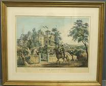 N Currier framed and matted lithograph May Morning
