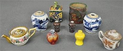 Ten pieces of Chinese and other porcelain items to