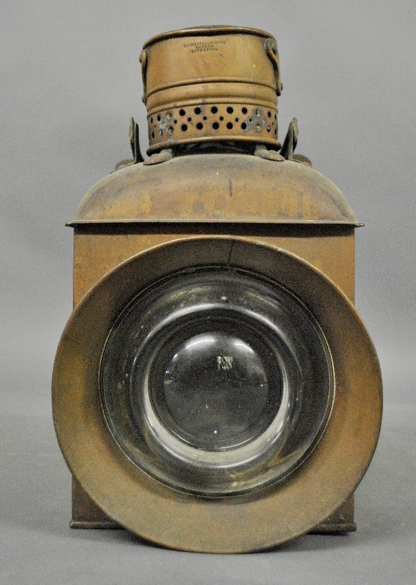 Copper ships lantern by Hughes & Burrough Makers,
