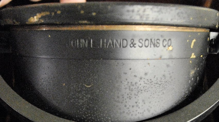 Gimballed ship's compass by John E. Hand & Sons Co., - 2