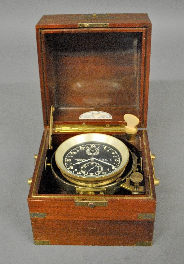 Ship's chronometer by Hamilton Watch Co., Lancaster, PA