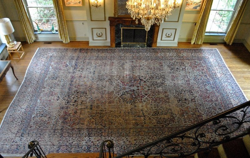 Palace size Kerman oriental carpet with overall leafy