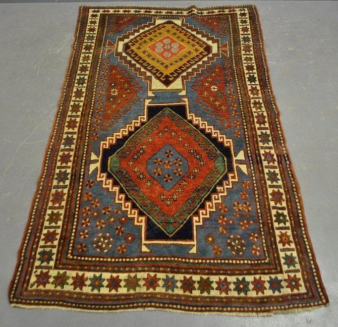 Very colorful Kazak center hall oriental carpet with