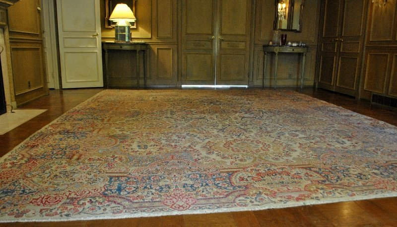"Room size Kerman oriental carpet. 16'2""x12'"