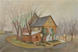 Berndt, Bayard [American, 1908-1987] oil on canvas
