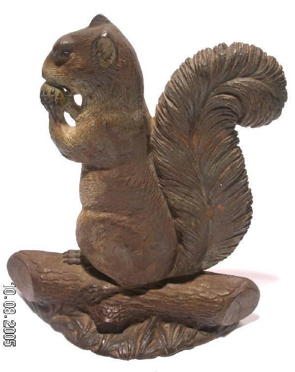 84: Victorian cast iron squirrel doorstop