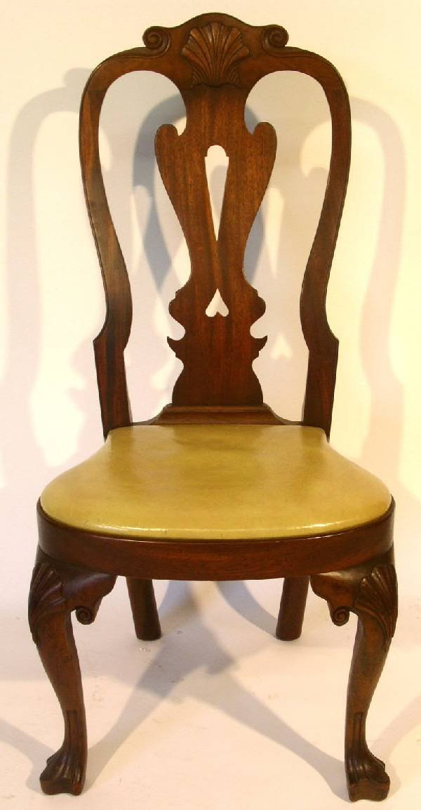 367: Queen Anne style walnut chair by Kittinger