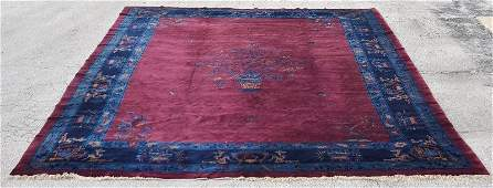 Fine palace size Chinese Peking oriental carpet with a
