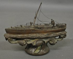 Bronze Of The Yacht Ilys, A Fifty-foot Motor Yacht