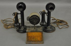 "Western Electric Company Intercom, 9.5""h., With Two"