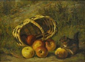 Abberley, Elias [american, 19th/20th C.] Oil On Canvas