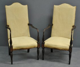 Pair Of Wallace Nutting Inlaid Mahogany Sheraton Style