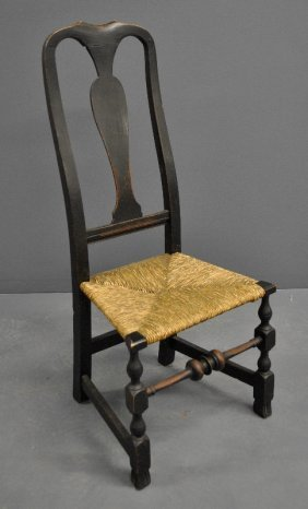 New England Queen Anne Maple Side Chair, C.1780.