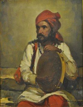 Trindade, Angela [india, 1909-1980] Oil On Canvas