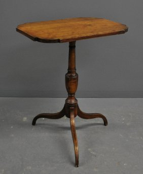 New England Federal Cherry Tilt-top Candle Stand,