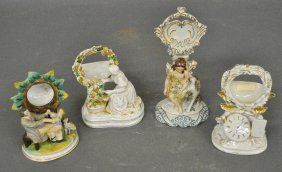 Staffordshire Figural Group Watch Holder