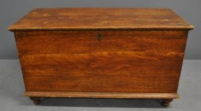 Pennsylvania Flame-grain Painted Blanket Chest, C.1830.