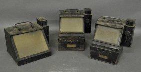 Two U.s. Navy Black-over-copper Binnacle Cases By