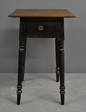 Pennsylvania Sheraton Walnut One-drawer Stand, C.1830.