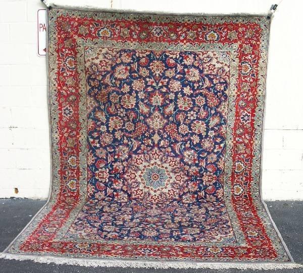 1A: Room size Kashan oriental carpet.