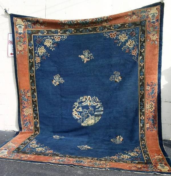11: Peking Chinese room size oriental carpet, blue fiel