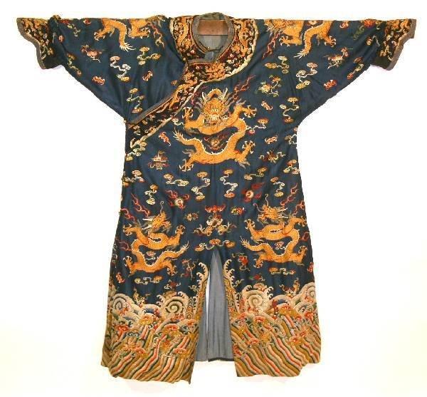 24: Very fine Chinese Mandarin court robe, 1796-1820, b