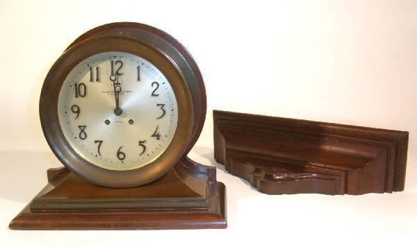"""336: Brass ship's clock, c.1925, signed """"Tilden-Thurser"""