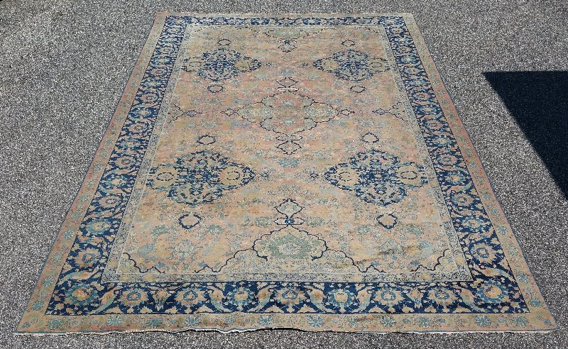 Palace size Tabriz carpet with center medallion