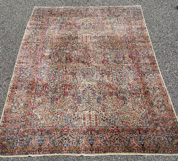 "Palace size Kerman carpet. 15'6"" x 10'"
