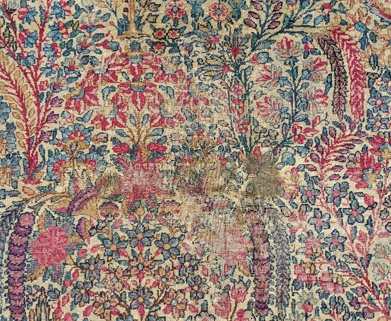 "Palace size Kerman carpet. 15'6"" x 10' - 3"