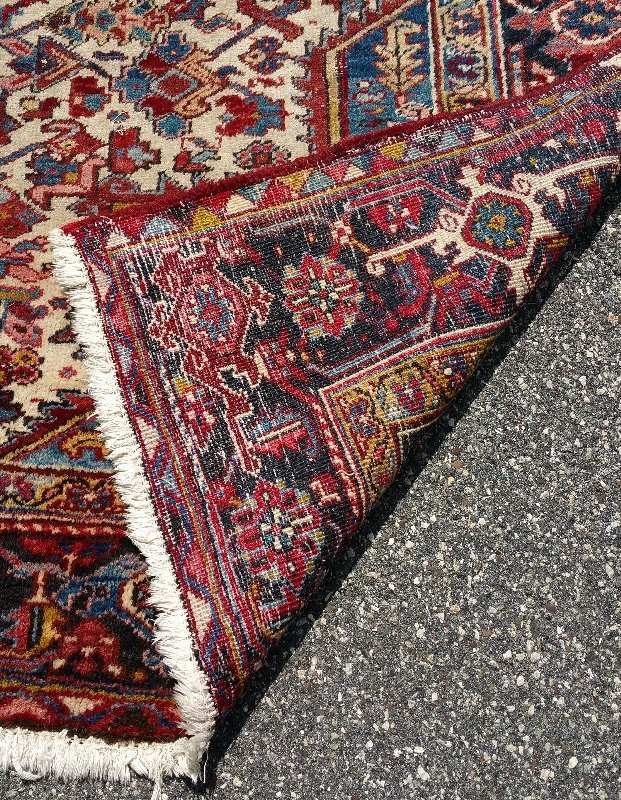"Room size Oriental carpet with red center. 15' 6"" x 11' - 2"