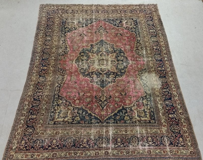 Room size Lavar Kerman rug with overall floral