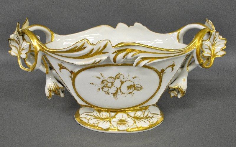 Paris porcelain centerpiece with colorful panel of - 2