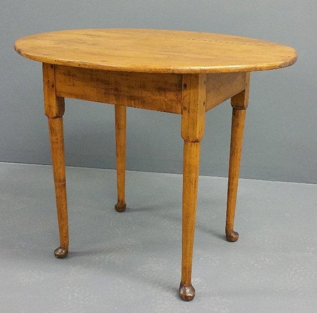 "New England maple tea table, circa 1780. 27"" x 34 ½"" x"