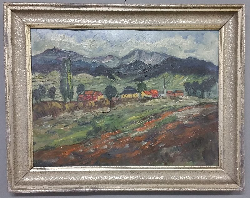 Oil on artist board Impressionist painting of a - 2