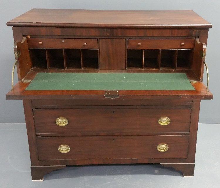 """Mahogany Butler's Desk, circa 1820. 45"""" h x 47 ½"""" w x - 2"""