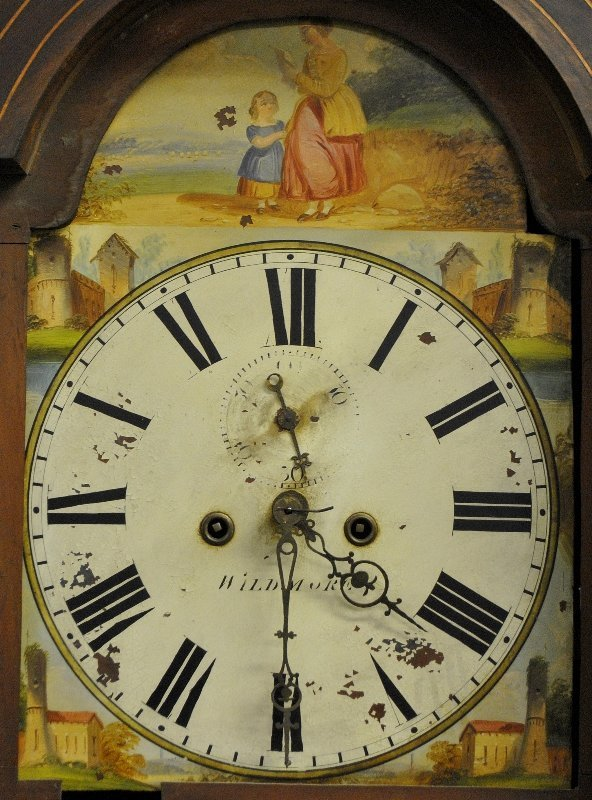 English oak cased eight-day clock, the dial is signed - 3