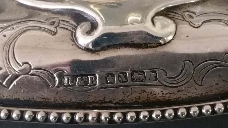 English silver Standish (inkstand) by Robert and Belk, - 2