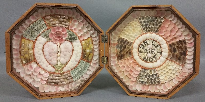 Fine sailor's valentine with colorful shells