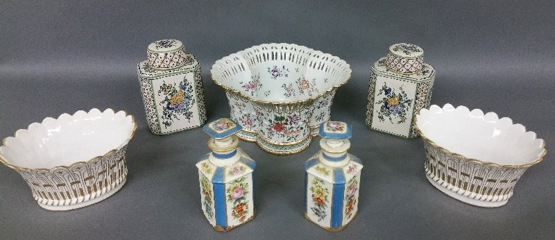 French porcelain tableware to include a basket form