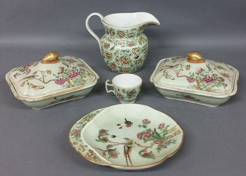 Chinese porcelain celadon tableware to include a pair