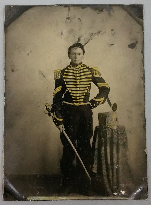 Fine Civil War tin type of John White McCown,