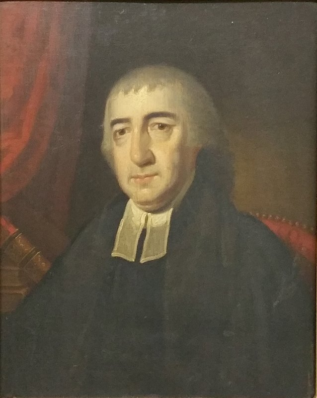 Oil on panel of the Reverend Tellicoe, an English