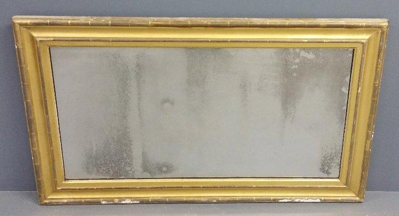 Large gilt framed over mantle mirror, circa 1850. 35