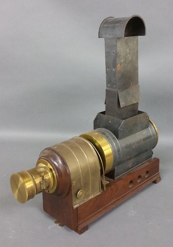 Brass and metal magic lantern, Marcy's Sciopticon,