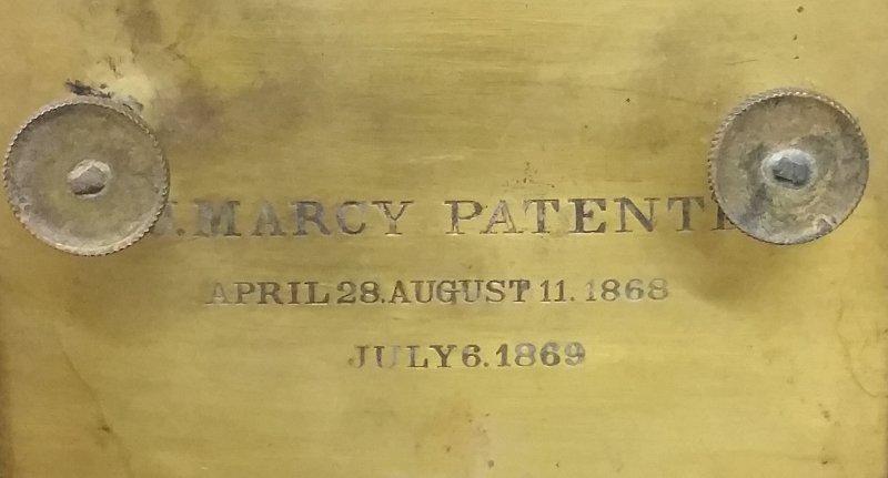 Brass and metal magic lantern, Marcy's Sciopticon, - 2
