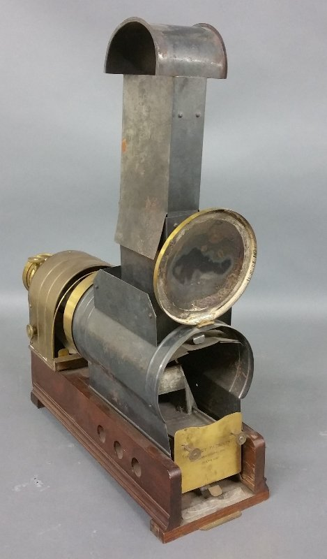 Brass and metal magic lantern, Marcy's Sciopticon, - 3