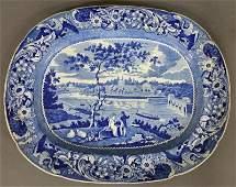 "Historical blue Staffordshire platter ""Fairmount Near"