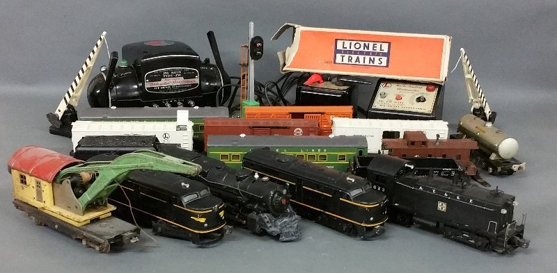 Lionel trains, circa 1955, some pieces may be older or