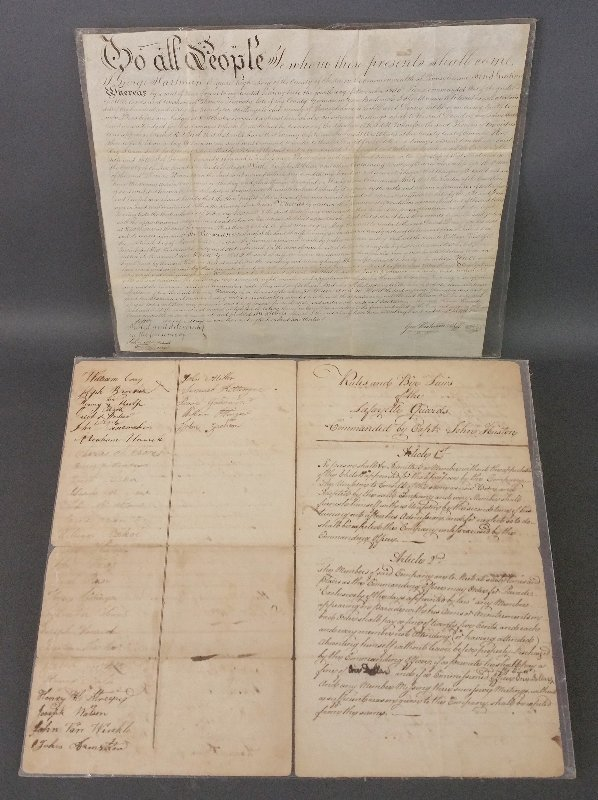 """Paper document """"Rules and By-Laws of the Lafayette"""